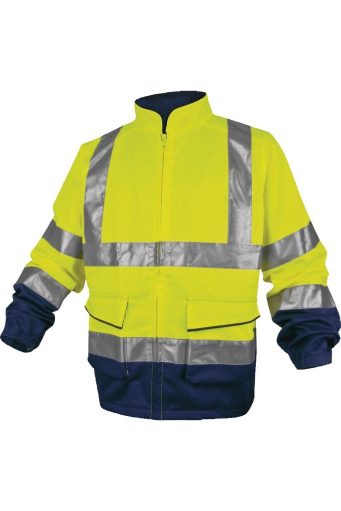 Delta Plus Panostyle High Visibility Hi Vis Working Jacket In Cotton / Polyester PHVES