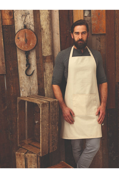 Premier Colours Bib Apron With Pocket PR154 Natural