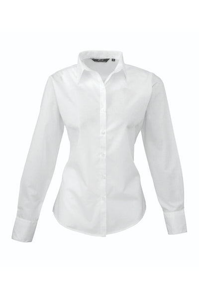 Premier-Long-Sleeve-Poplin-Blouse-PR300-Light-Colours Colour
