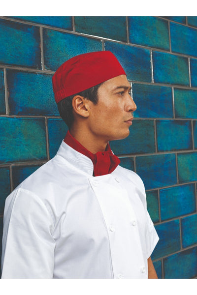 Premier Chef's Skull Cap PR653 Red