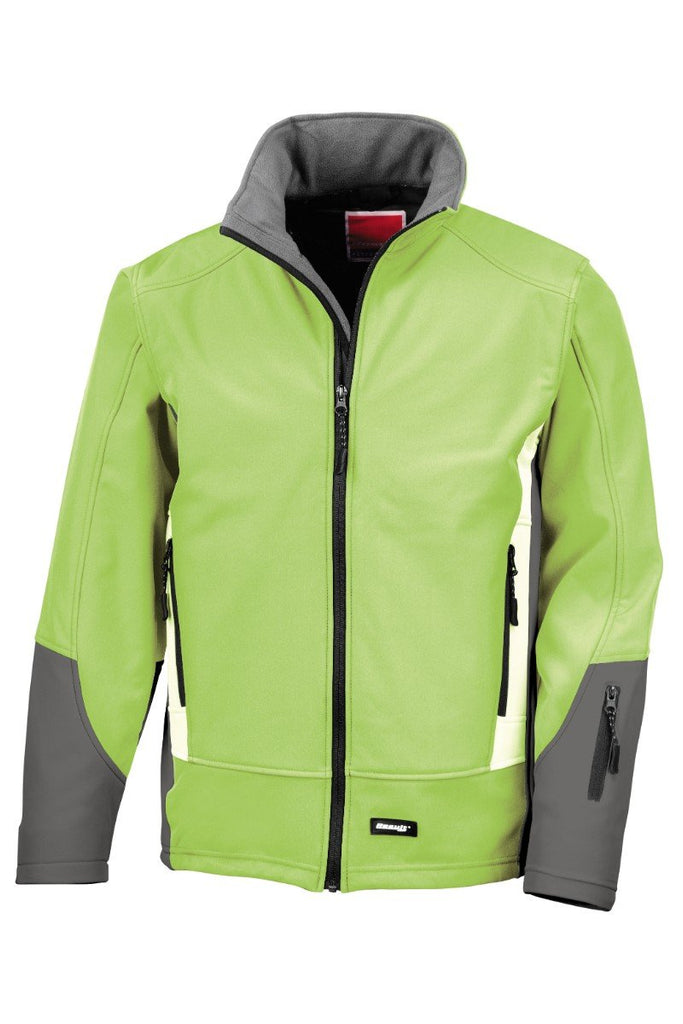 Result Blade softshell jacket R119A Lime/ Charcoal/ Pale Grey XS