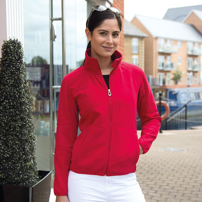Result Women's Osaka combed pile softshell jacket R131F Red L