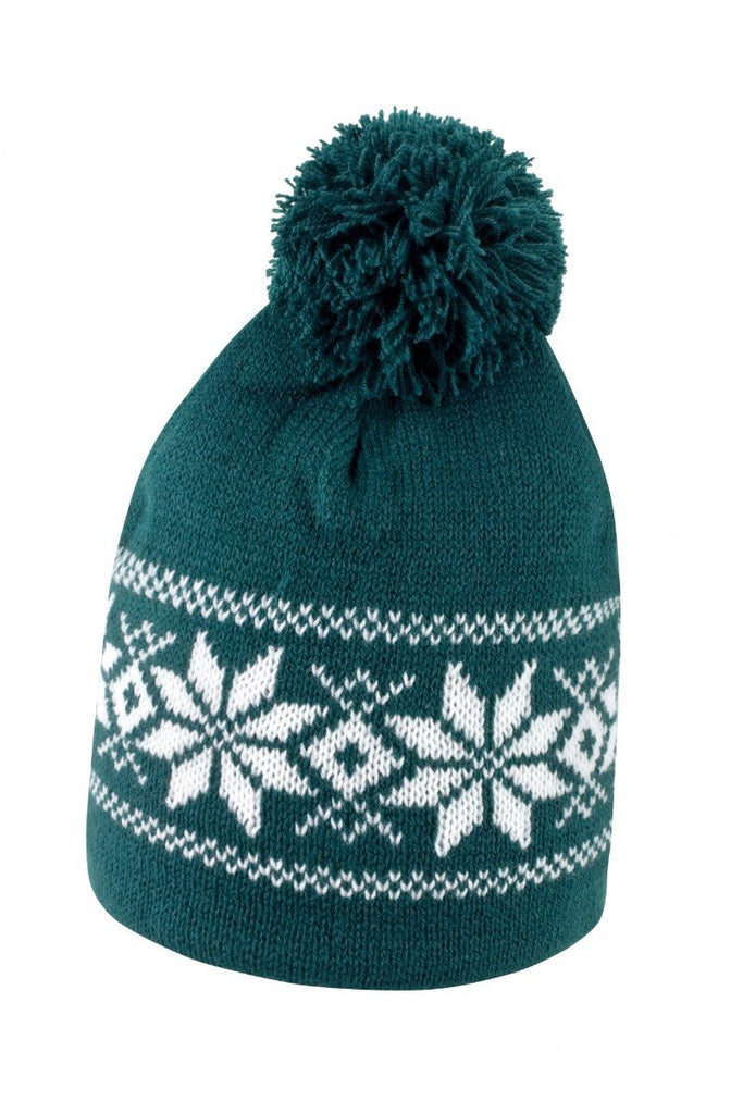 Result Winter Essentials Fair Isle knitted hat R151X Arctic Green/ White One Size