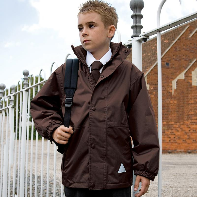 Result Junior youth reversible StormDri 4000 jacket R160J brown brown lifestyle image