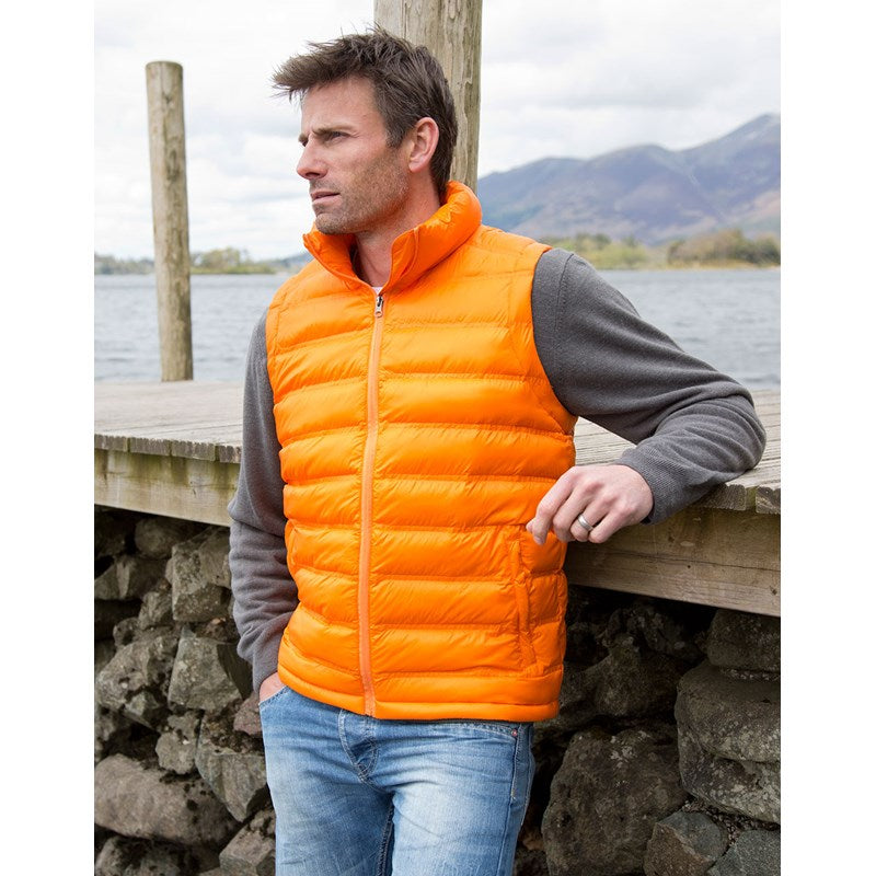 Result Urban Outdoor Ice bird padded gilet R193M Orange lifestyle image