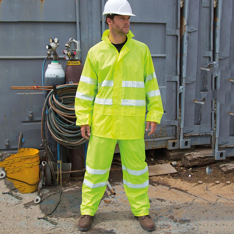 Result Safeguard Hi vis waterproof suit R216X lifestyle image Yellow