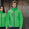 Result Core Core TX performance hooded softshell jacket R230M Vivid Green/ Black 2XL