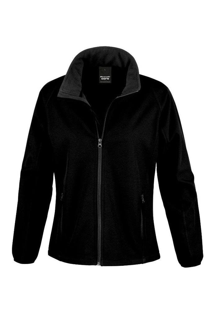 Result Core Women's printable softshell jacket R231F Black / Black S