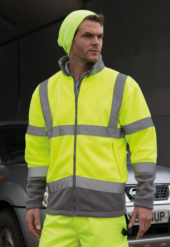 Result Core Safety micro fleece R329X fluorescent yellow lifestyle image