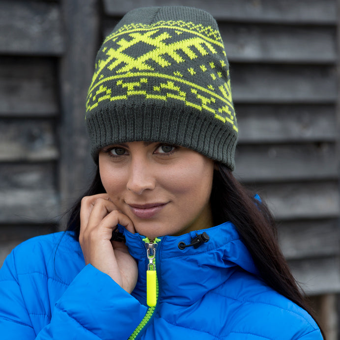 Result Winter Essentials Nordic knitted hat R371X