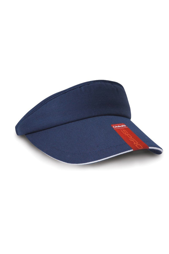 Result Headwear Herringbone sun visor with sandwich peak RC48X Navy / White One Size