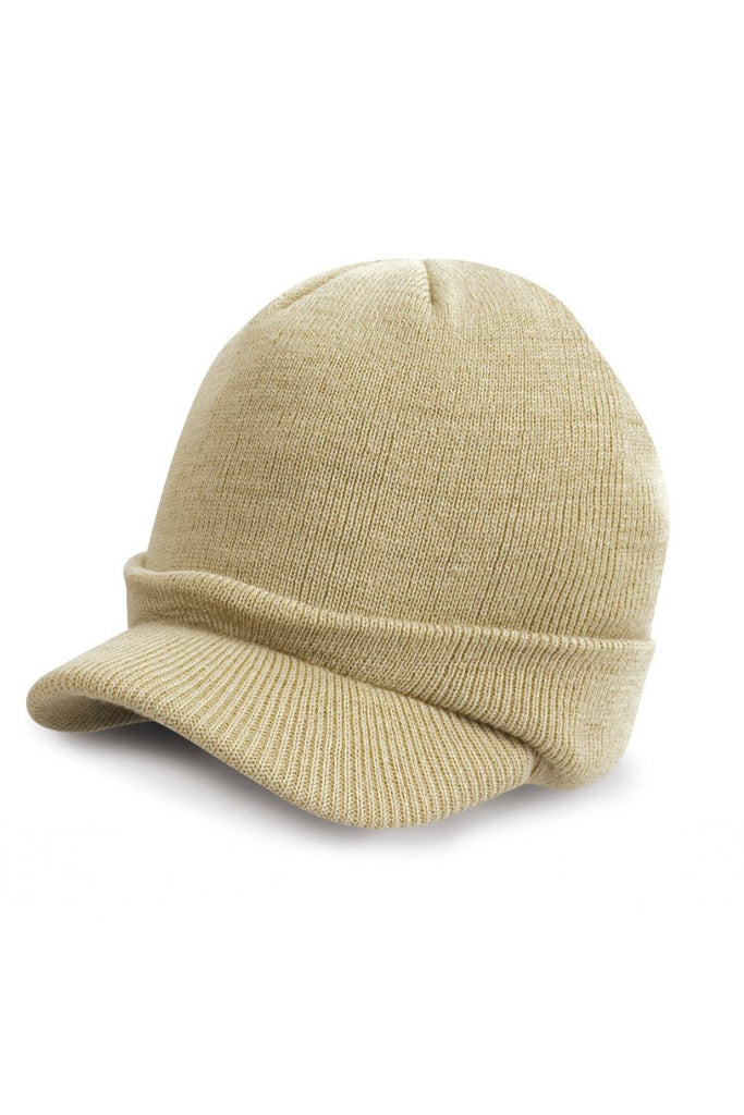 Result Winter Essentials Kids Esco army knitted hat RC60J Desert Khaki One Size