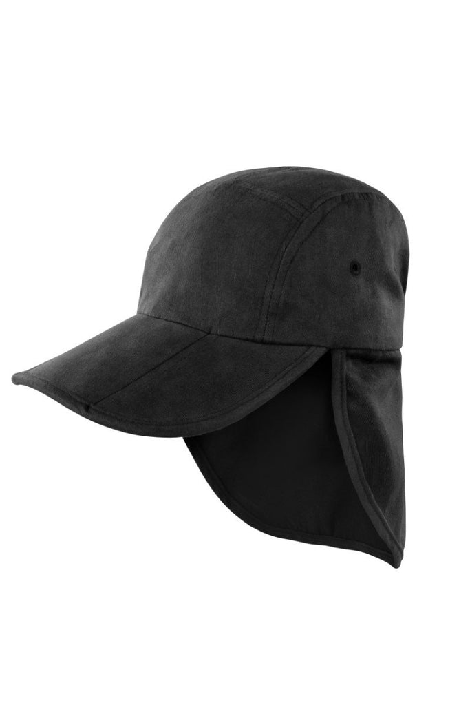 Result Headwear Fold-up legionnaire's cap RC76X Black One Size