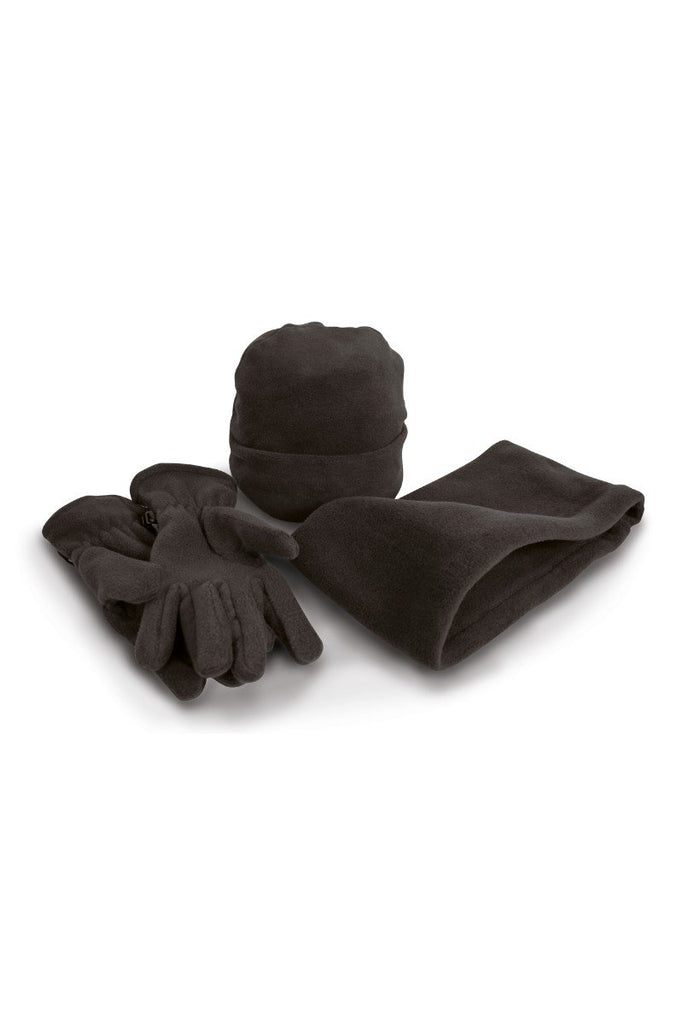 Result Winter Essentials Polartherm™ fleece accessory set RE40A Black S