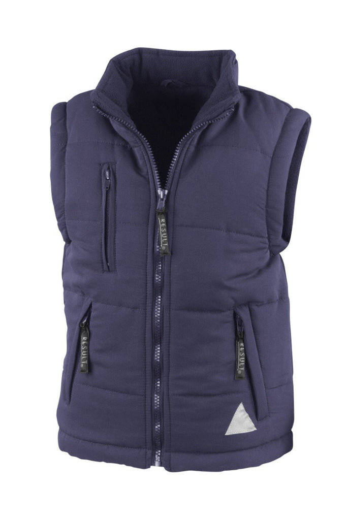 Result Junior ultra padded bodywarmer RE88J Navy XS