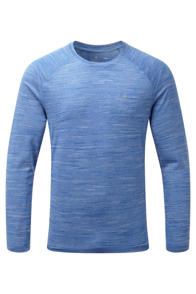 Ronhill Men's Momentum Long Sleeve T-Shirt RH-002821 Cobalt Marl