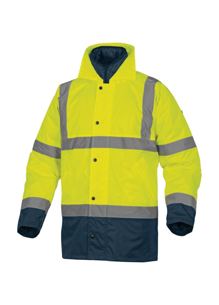 Delta Plus Hi Vis PU Coated Oxford Polyester 3 in 1 Parka RUNWAY