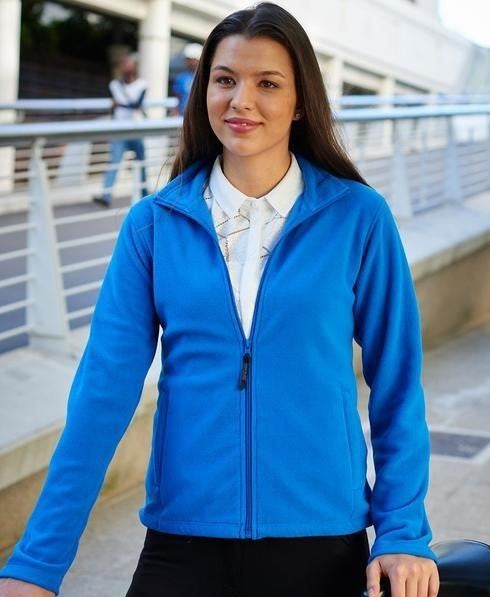 Regatta Professional Women's MicroFull Zip Neck Fleece Jacket TRF565 oxford blue lifestyle image