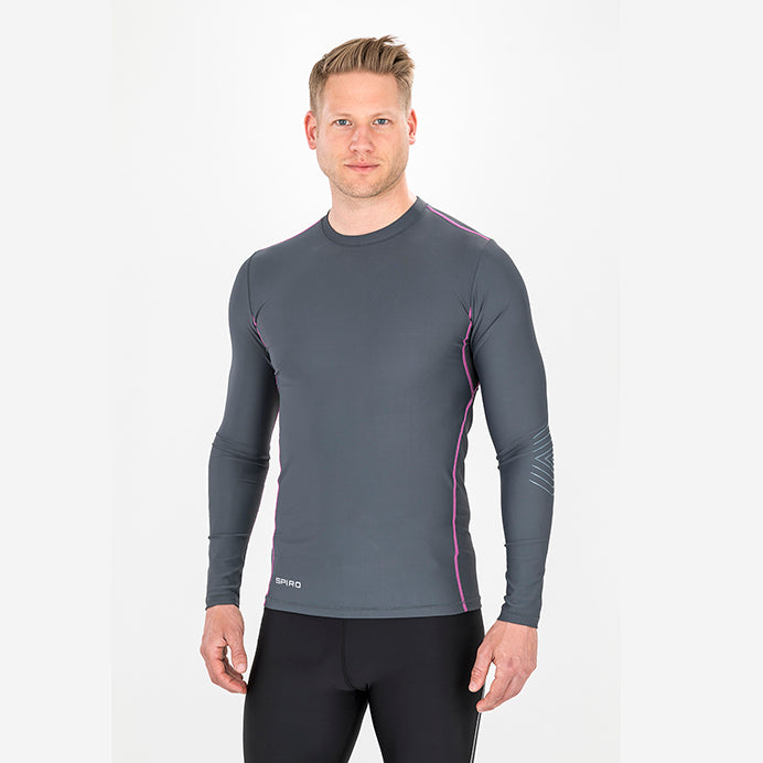 Spiro  Compression Bodyfit Baselayer Long Sleeve Top S252X