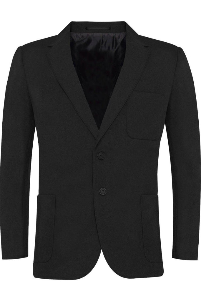 Blue Max Banner Viscount Blazer Zip Entry Long Fit SS39E_LG Black