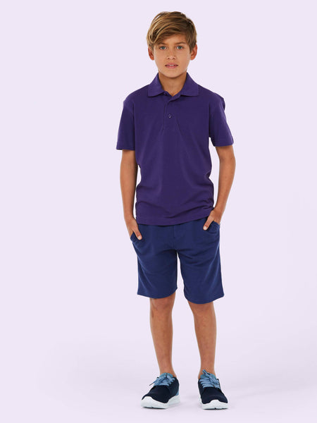 Uneek Childrens 250GSM Poloshirt UC103 lifestyle image purple