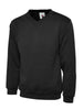 Uneek 300GSM Premium V-Neck Sweatshirt UC204 black