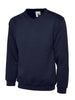 Uneek 300GSM Premium V-Neck Sweatshirt UC204 navy blue