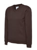 Uneek Children 300GSM V-neck Sweatshirt UC206 brown