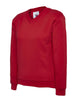 Uneek Children 300GSM V-neck Sweatshirt UC206 red