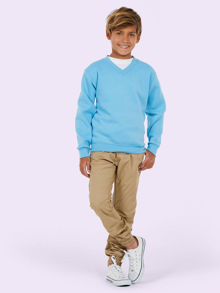 Uneek Children 300GSM V-neck Sweatshirt UC206