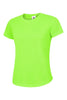 Uneek Ladies 140GSM Ultra Cool T-Shirt UC316 electric green