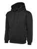 Uneek 350GSM Premium Hooded Sweatshirt UC501 black