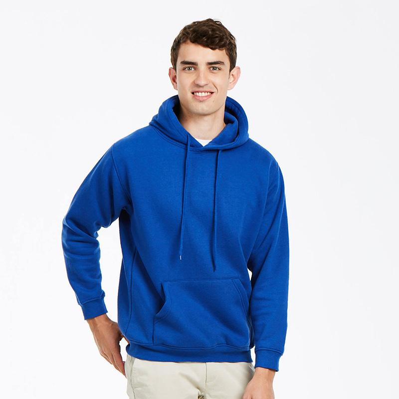 Uneek 350GSM Premium Hooded Sweatshirt UC501 lifestyle image royal blue