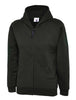 Uneek Childrens 300GSM Classic Full Zip Hooded Sweatshirt UC506 black