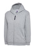 Uneek Childrens 300GSM Classic Full Zip Hooded Sweatshirt UC506 heather grey