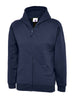 Uneek Childrens 300GSM Classic Full Zip Hooded Sweatshirt UC506 navy