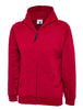 Uneek Childrens 300GSM Classic Full Zip Hooded Sweatshirt UC506 red