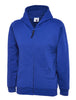 Uneek Childrens 300GSM Classic Full Zip Hooded Sweatshirt UC506 royal blue