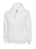 Uneek Childrens 300GSM Classic Full Zip Hooded Sweatshirt UC506 white