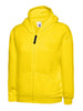 Uneek Childrens 300GSM Classic Full Zip Hooded Sweatshirt UC506 yellow