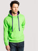 Uneek 300GSM Contrast Hooded Sweatshirt UC507 lifestyle image lime purple