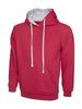 Uneek 300GSM Contrast Hooded Sweatshirt UC507 fuchsia heather grey
