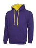 Uneek 300GSM Contrast Hooded Sweatshirt UC507