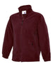 Uneek Childrens 300GSM Full Zip Micro Fleece Jacket UC603 maroon