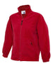 Uneek Childrens 300GSM Full Zip Micro Fleece Jacket UC603 red