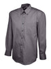Uneek Men's 140GSM Pinpoint Oxford Full Sleeve Shirt UC701 charcoal grey