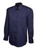 Uneek Men's 140GSM Pinpoint Oxford Full Sleeve Shirt UC701 navy blue