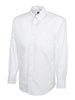 Uneek Men's 140GSM Pinpoint Oxford Full Sleeve Shirt UC701 white