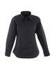 Uneek Ladies 140GSM Pinpoint Oxford Full Sleeve Shirt UC703 black