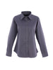 Uneek Ladies 140GSM Pinpoint Oxford Full Sleeve Shirt UC703 charcoal grey